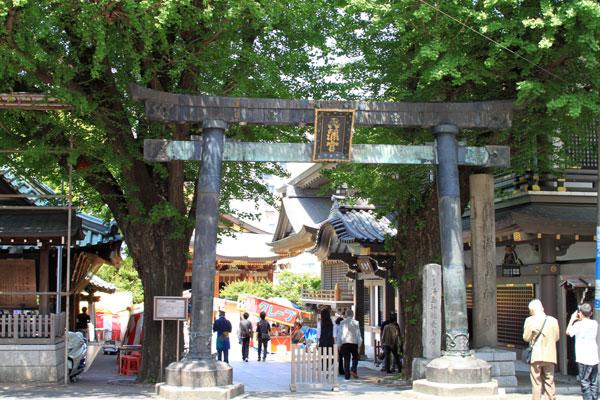 湯島天神・銅鳥居