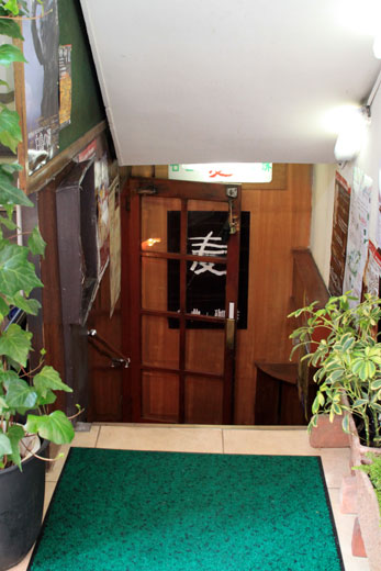 名曲喫茶「麦」・階段