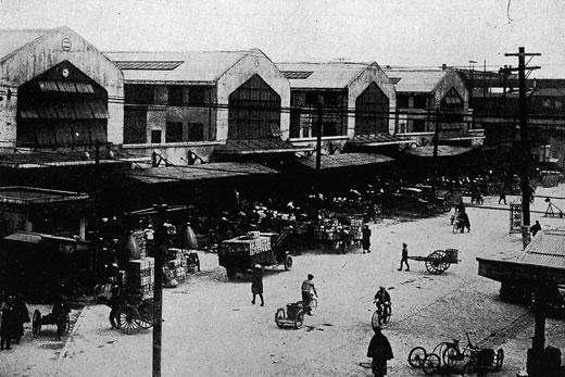 昭和8年頃の神田青果市場