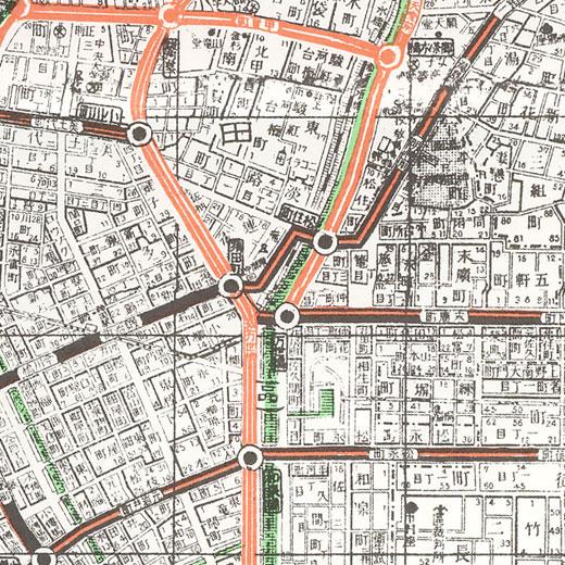 万世橋駅周辺地図(大正9年)