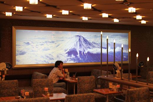 喫茶フジ・富士山写真