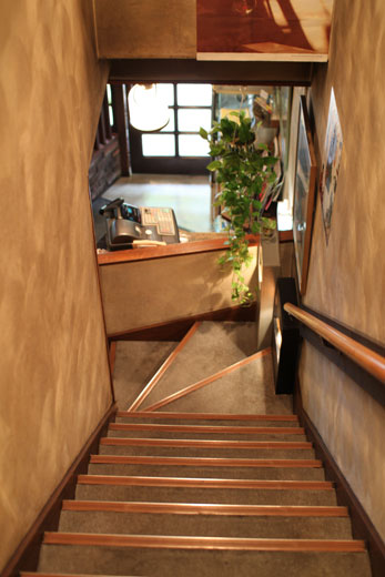 喫茶ルオー・階段