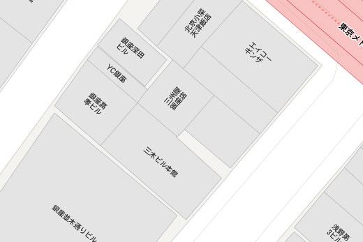 「三州屋 銀座店」拡大マップ