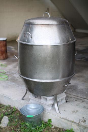中国製焼釜