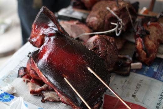 焼釜調理肉