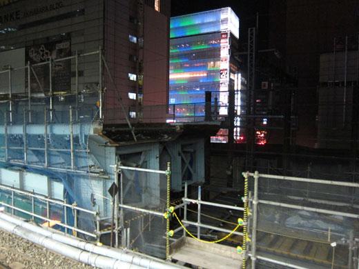 秋葉原駅ホームからの東北縦貫線工事