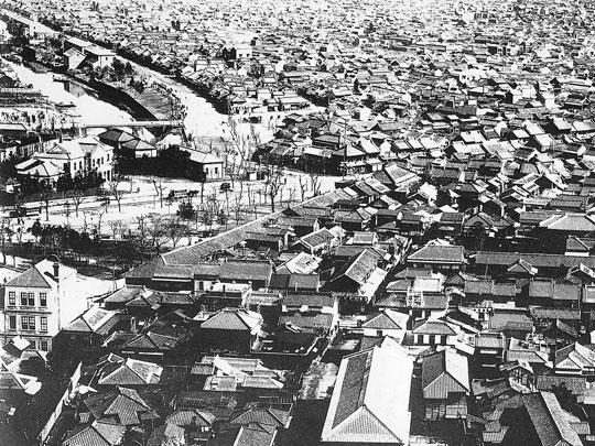 淡路町からの須田町(明治20年頃)