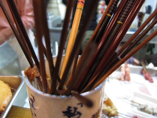 串揚げ「たけちゃん」・精算用箸