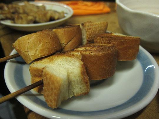 西口やきとん・フランスパン