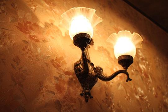 珈琲「王城」・ランプ