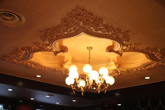 珈琲「王城」・中央の照明