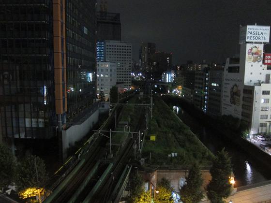 ジャングルビアガーデン・万世橋方面の眺め