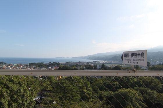 小田原城からの伊豆半島