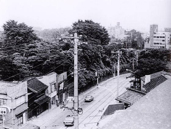 昭和40年代始めの湯島ハイタウン(森の辺り)