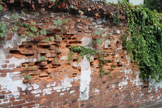 湯島天神鳥居横の煉瓦塀・そのニ