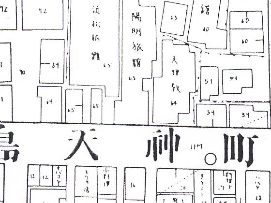 湯島天神・鳥居前通り火保図(昭和9年)