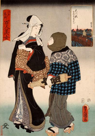 大川橋の夜鷹と牛(妓夫)