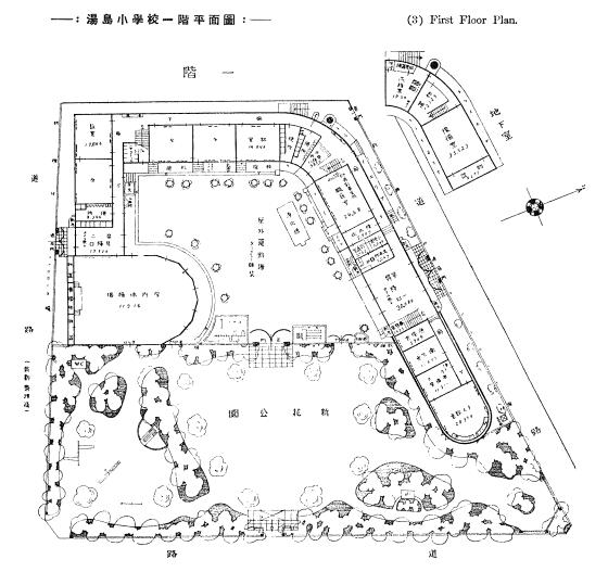 旧湯島小学校平面図