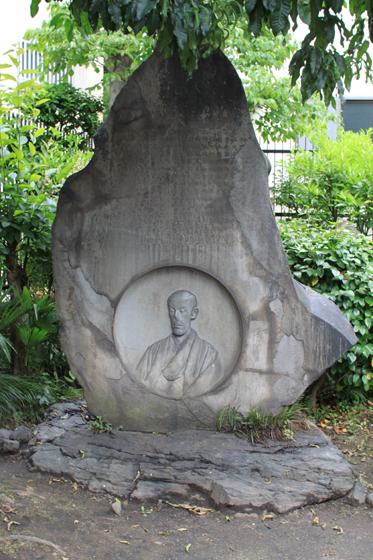 長命寺、成島柳北の碑