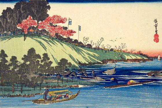 広重「隅田川 はな盛」