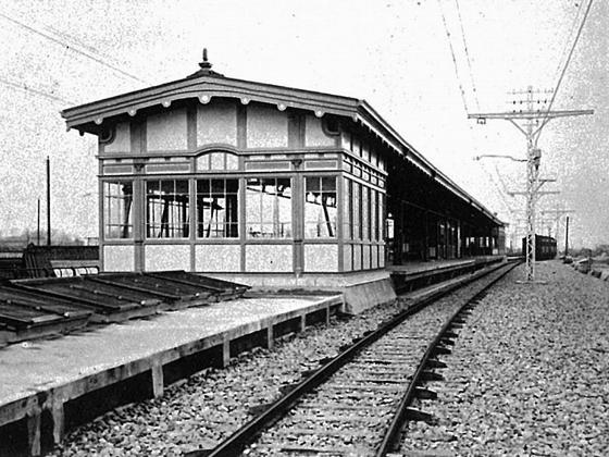 開業当時の神田駅ホーム