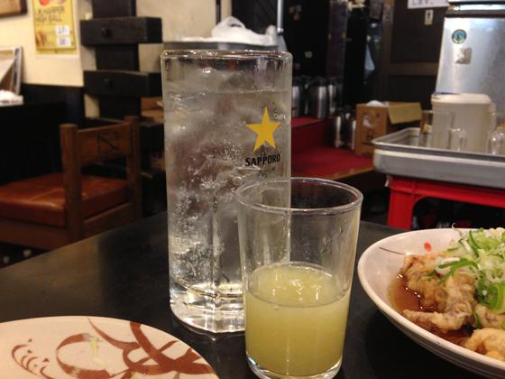 酒蔵「升亀」、グレープフルーツサワー