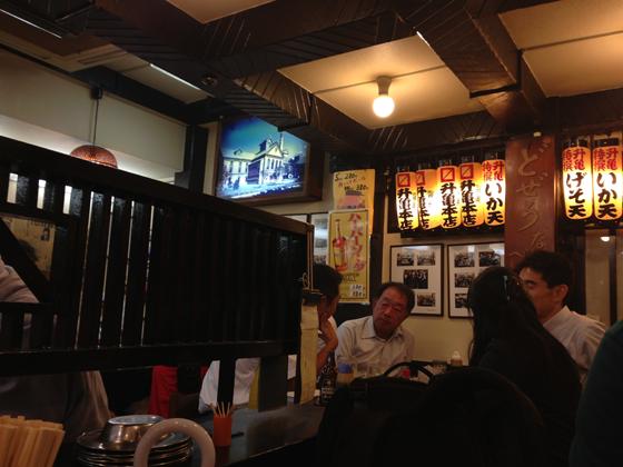 酒蔵「升亀」、サッポロビール園のディスプレイ
