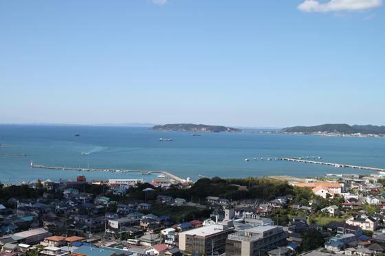 館山城からの眺め