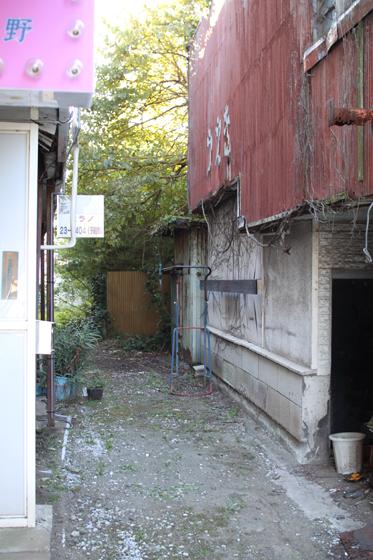 館山市内・スナック通り跡