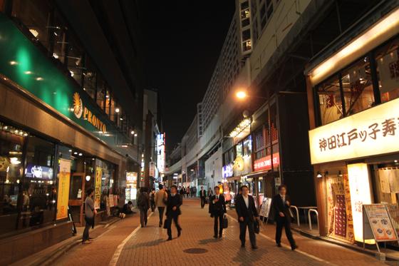 現在の神田駅東側