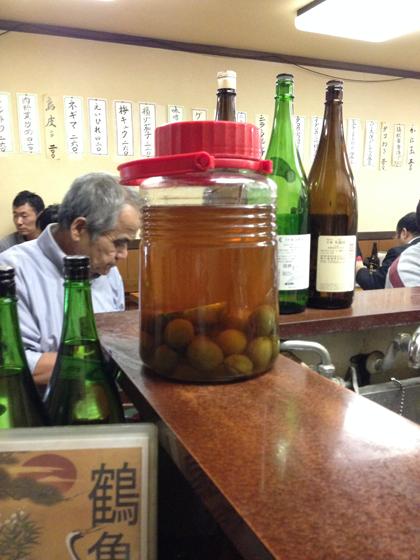 居酒屋鶴亀・自家製梅酒
