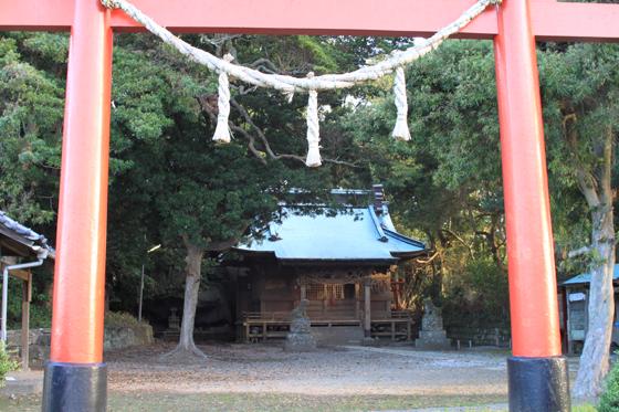 海南刀切神社の社殿