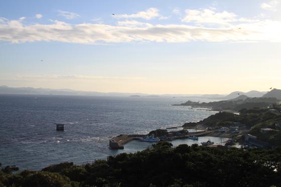 洲崎灯台からの館山方面