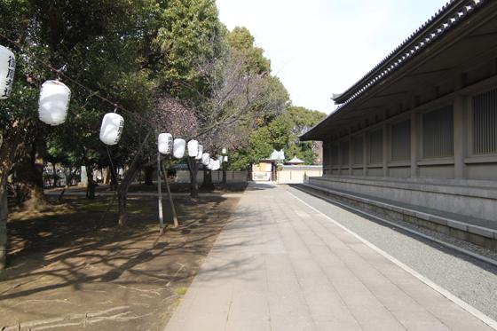 池上本門寺の御廟所への道