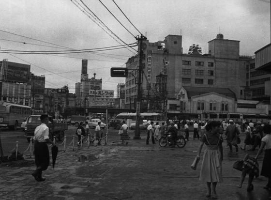 道玄坂方面から見た渋谷駅(昭和30年代)