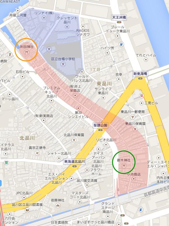 品川宿周辺地図